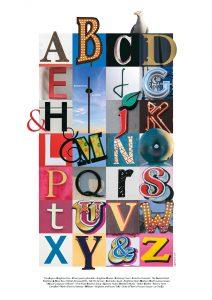 Illistrasjon med bokstaver kalt Brighton alfabet
